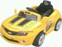 Kursi Barber Anak Mobilan Chevrolet Camaro Kuning