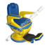Kursi Barber Dewasa Non Hidrolik PM55 Biru Kuning