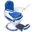 Kursi Barber Dewasa Non Hidrolik PM55 Biru Putih