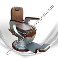 Kursi Barber Dewasa Non Hidrolik PM55 Coklat Silver