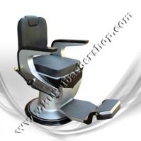 Kursi Barber Dewasa Non Hidrolik PM55 Hitam Silver