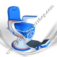 Kursi Barber Dewasa Non Hidrolik PM88 Biru Putih