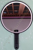 Cermin Genggam Bulat Hitam