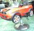 Kursi Barber Anak Mobilan Mini Cooper Merah
