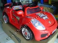 Kursi Barber Anak Mobilan Porsche Merah