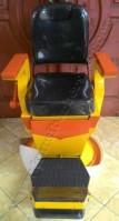 Kursi Barber Non Hidrolik PM55 Hitam Kuning Orange