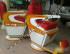 Kursi Barber Takara Kurung Ardan Merah Putih Kuning