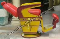 Kursi Barber Takara Kurung Ardan Merah Coklat Gold