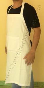 Apron Stylist Saint Ancilla Kain Tipis Putih