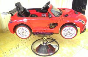 Kursi Barber Anak Mobilan Berlisensi Mercedes Benz Merah