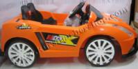 Kursi Barber Anak Mobilan Berlisensi Lamborghini Orange