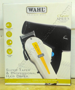 Wahl Super Taper Corded Clipper & Professional Hair Dryer
