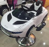 Kursi Barber Anak Mobilan Audi Quattro Sport Putih