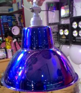 Kap Lampu Gantung Plat Biru Diameter 30cm