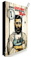Poster Barber Frameless BS-004 Uk. 30cm x 30cm