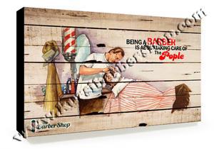 Poster Barber Frameless BS-014 Uk. 30cm x 30cm