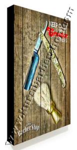 Poster Barber Frameless BS-026 Uk. 30cm x 30cm