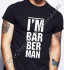 T-Shirt Black O Neck Barbershop