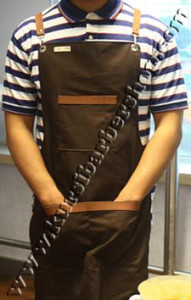 Apron Stylist Canvas Leather Ring Coklat Tua