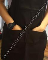 Apron Stylist Canvas Leather Ring Coklat Muda