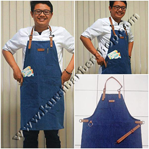 Apron Stylist Jeans Synthetic Leather