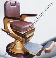 Kursi Barber Dewasa Non Hidrolik PM100 Coklat Tua-Coklat Muda