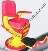 Kursi Barber Dewasa Non Hidrolik PM100 Merah-Kuning