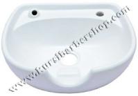 Wasbak Keramik Putih + Tatakan Kepala + Kran Tunggal & Shower LHD-1102