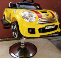 Kursi Barber Anak Mobilan Mini Cooper Kuning